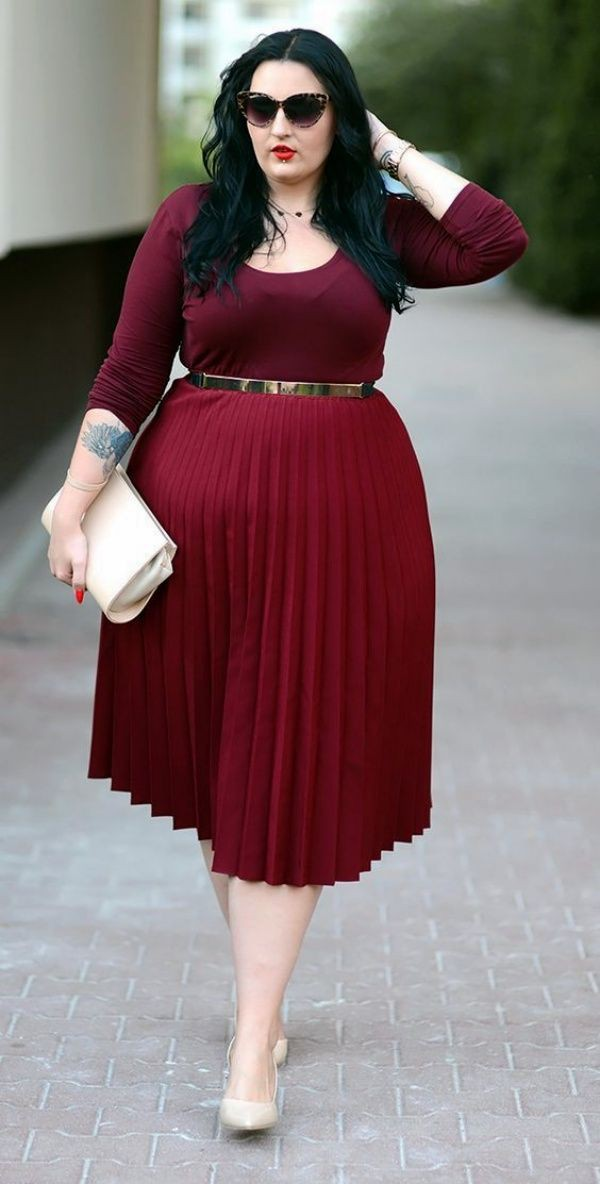 Plus size women working outfit