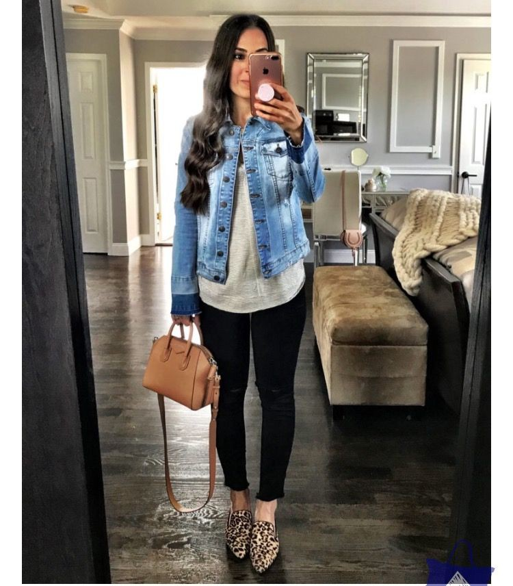 Light Denim Jacket Outfit, Casual wear, Ballet flat