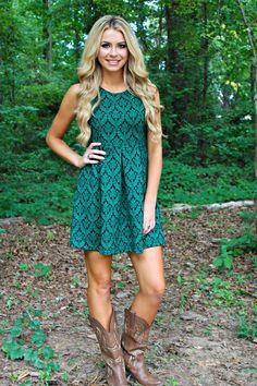 Country girl dresses with boots