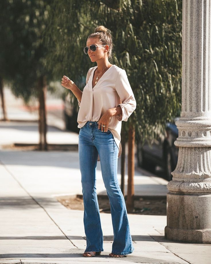 Fashion ideas to try flare jeans outfit 2019, Slim-fit pants