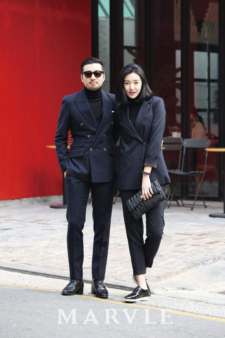 His And Hers Matching Black Formal Outfits