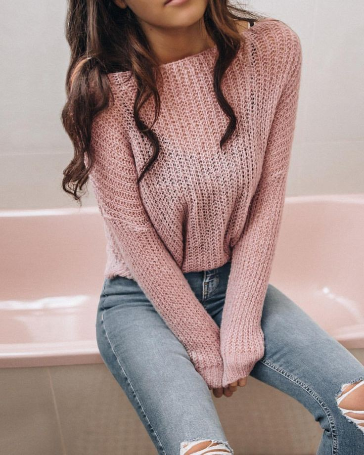French style knit cute outfit, Casual wear