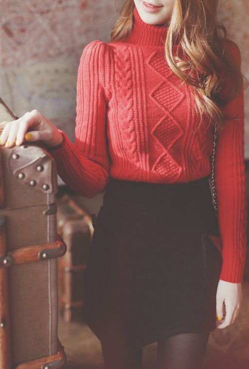 Skirts and sweater outfit christmas