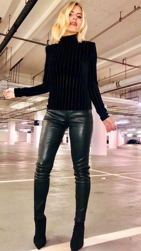 Leather Pant Outfits For Women