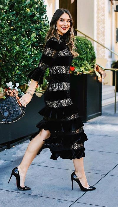Can't afford to miss these carriebradshawlied winter outfit, Little black dress