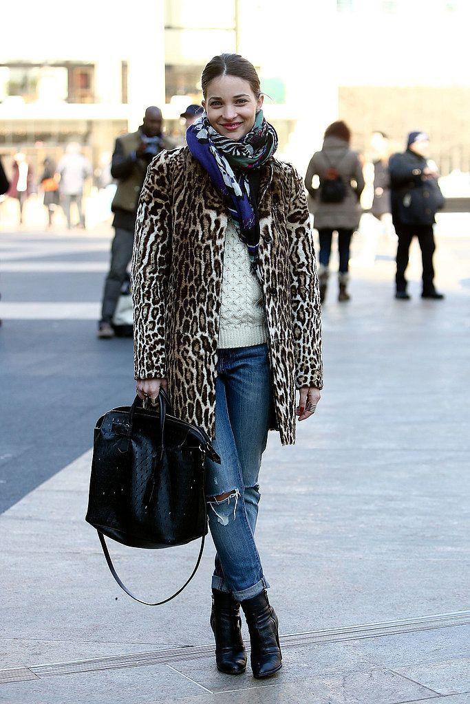 Street style leopard jacket, Street fashion