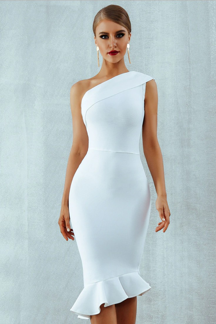 Give a try to these white bandage dress