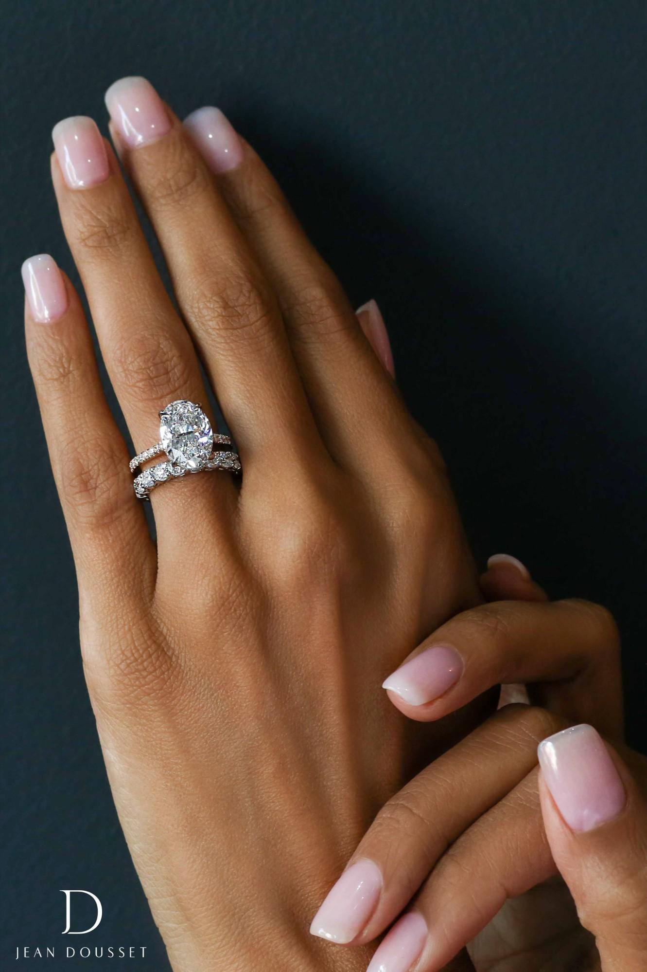 Dream engagement ring on black woman finger
