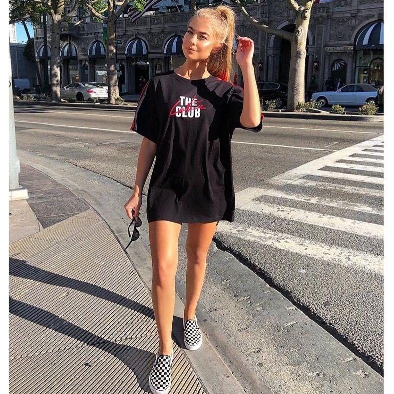 T shirt dress and vans
