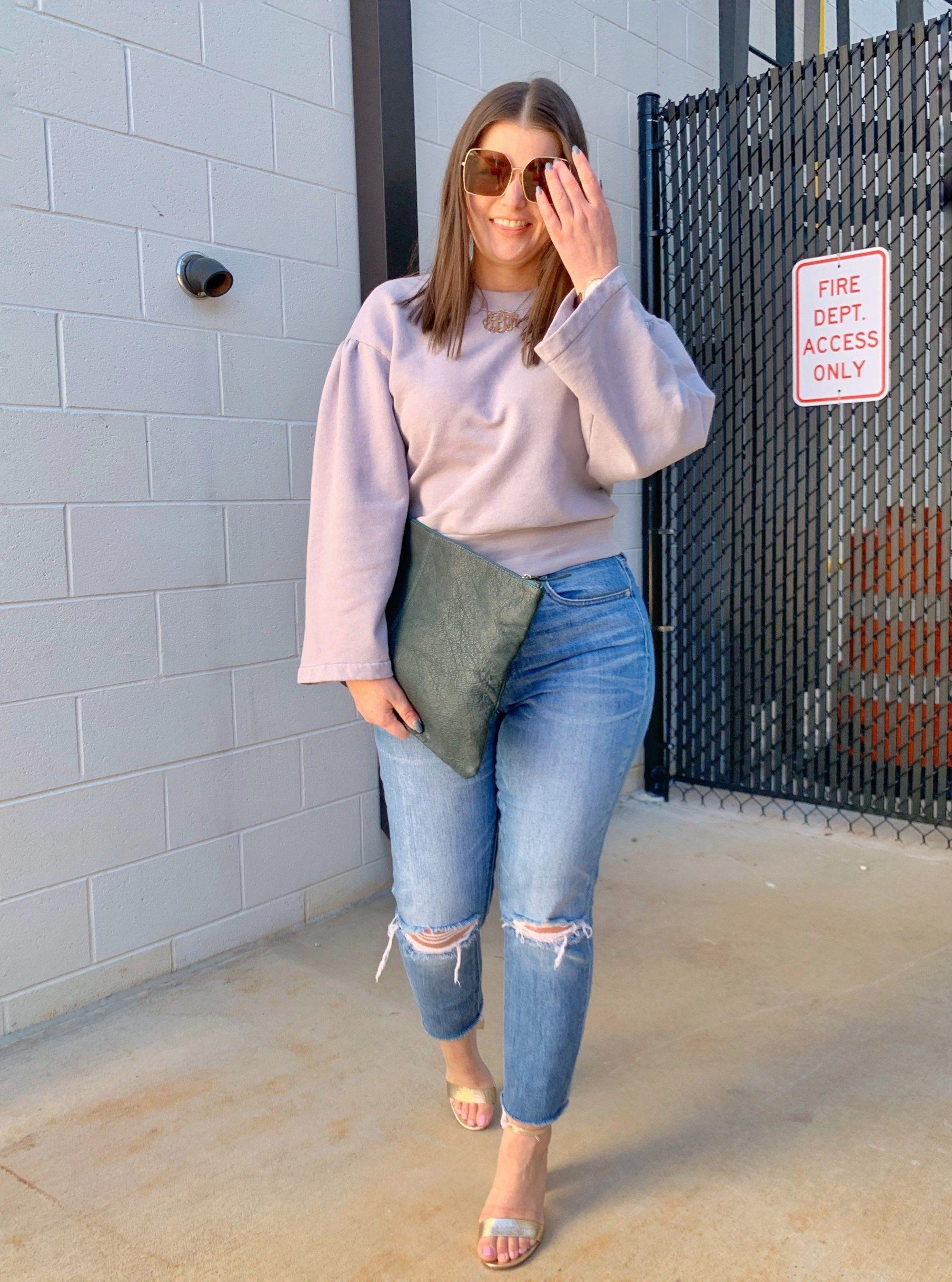 Spring Outfits For Women, Denim skirt, Mom jeans