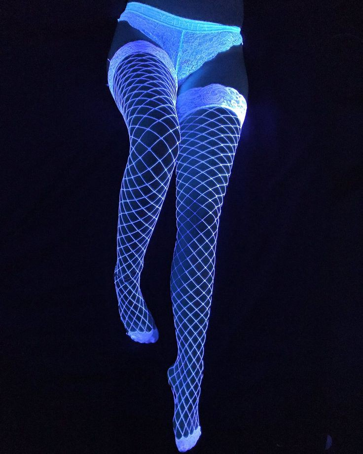 Glow In The Dark Fishnet Stockings