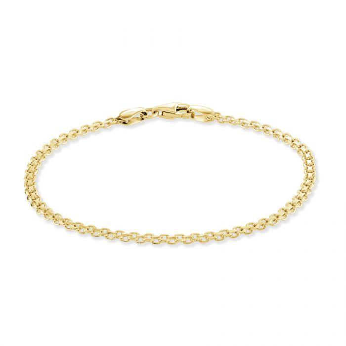 Yellow Gold Plated Sterling Silver 2.4mm Bismark Bracelet £16.00