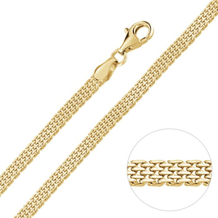 Yellow Gold Plated Sterling Silver 3.9mm Mesh Bracelet £34.00