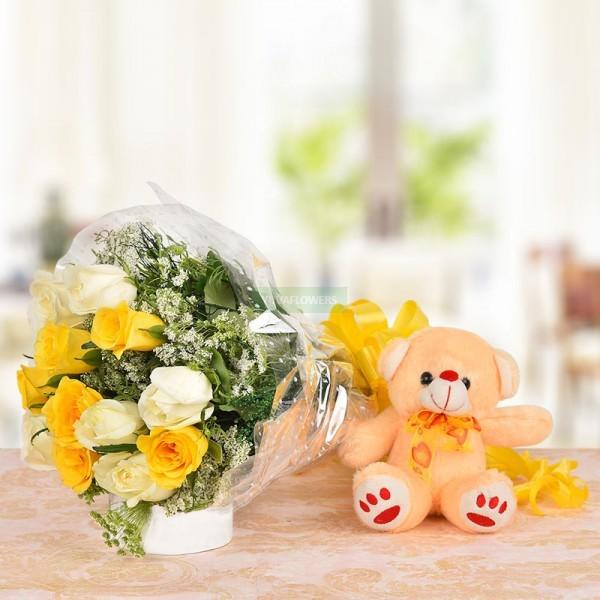 Glorious Roses N Teddy Bear