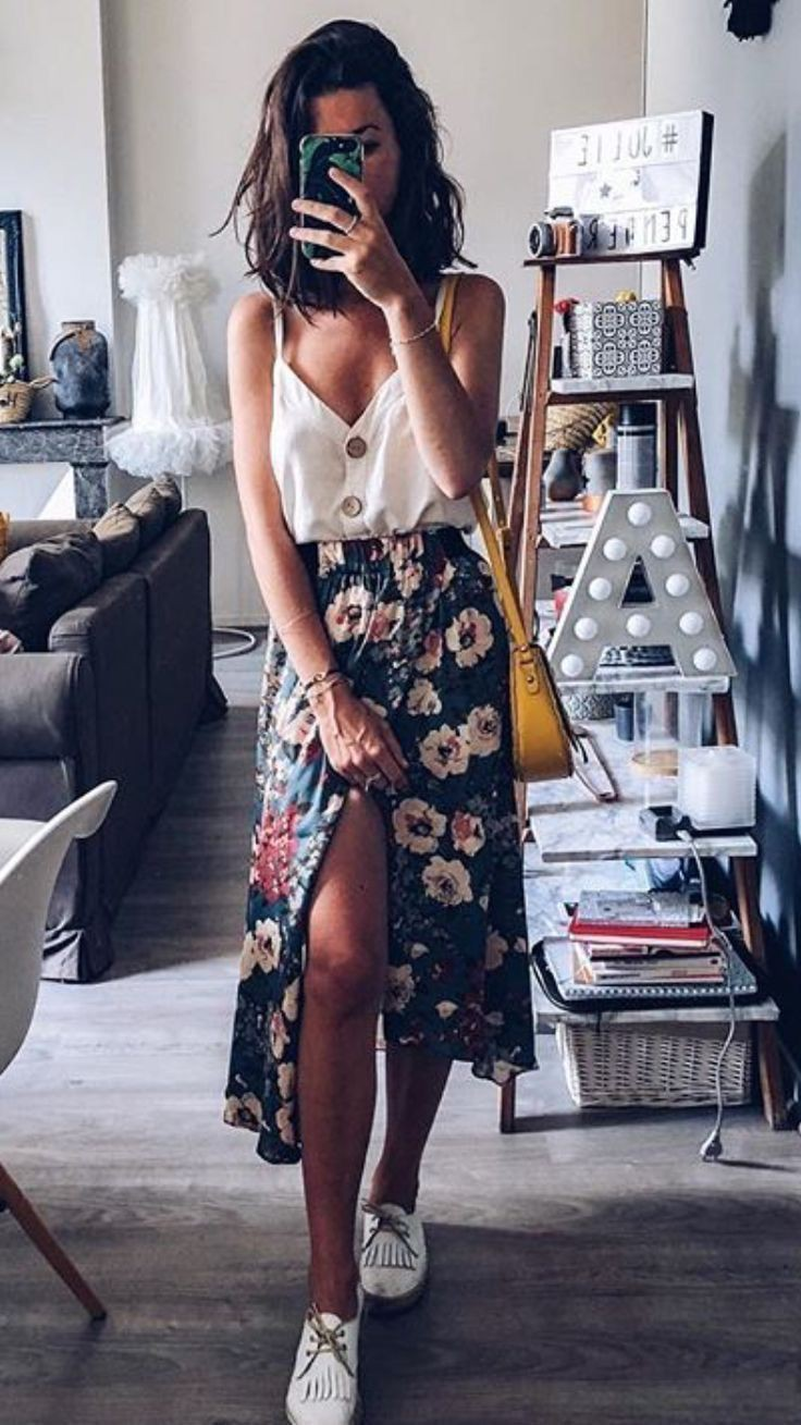 Casual Outfit Ideas For 2020, Twinset Long Skirt, Street fashion