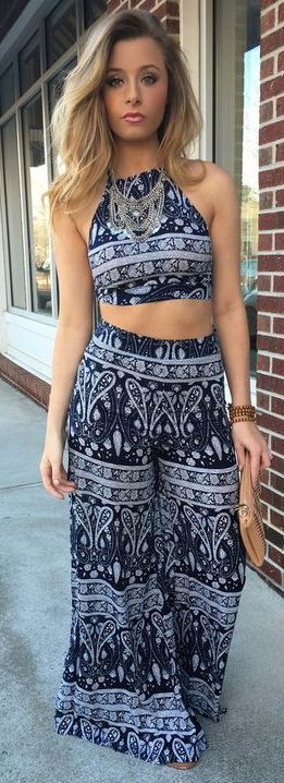 Trendy High Waist Palazzo Attire For Night Out Cruise Ship Palazzo …