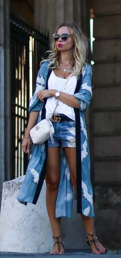 Look informal con kimono, Casual wear