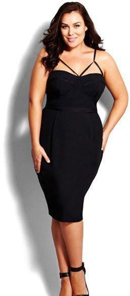Sexy black dress plus size