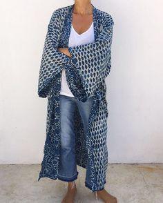 Slim girls ideas for kimono malaika cotton, Navy blue