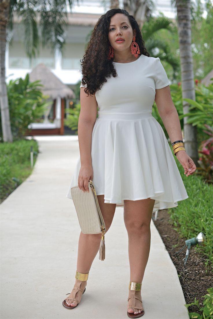 White dress plus size, Plus-size clothing
