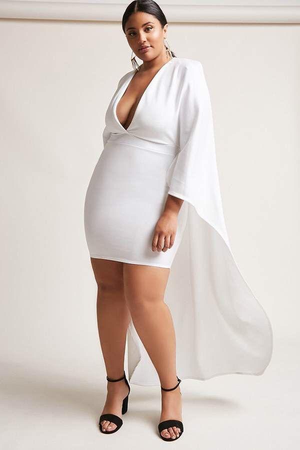 Plus Size Scuba Knit Cape Dress #plussize #fashionaddict aff Latest Cocktail Dress For Plus Size ...