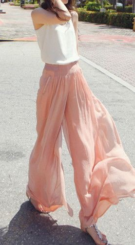 Trendy Flare Palazzo Attire For Brunch Women Plus Size High Waist Wide Leg Flared Pants Casual P ...
