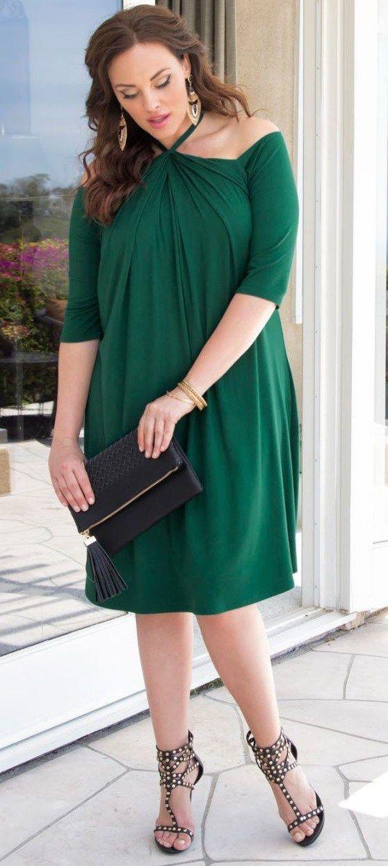 Plus size green dresses, Plus-size clothing