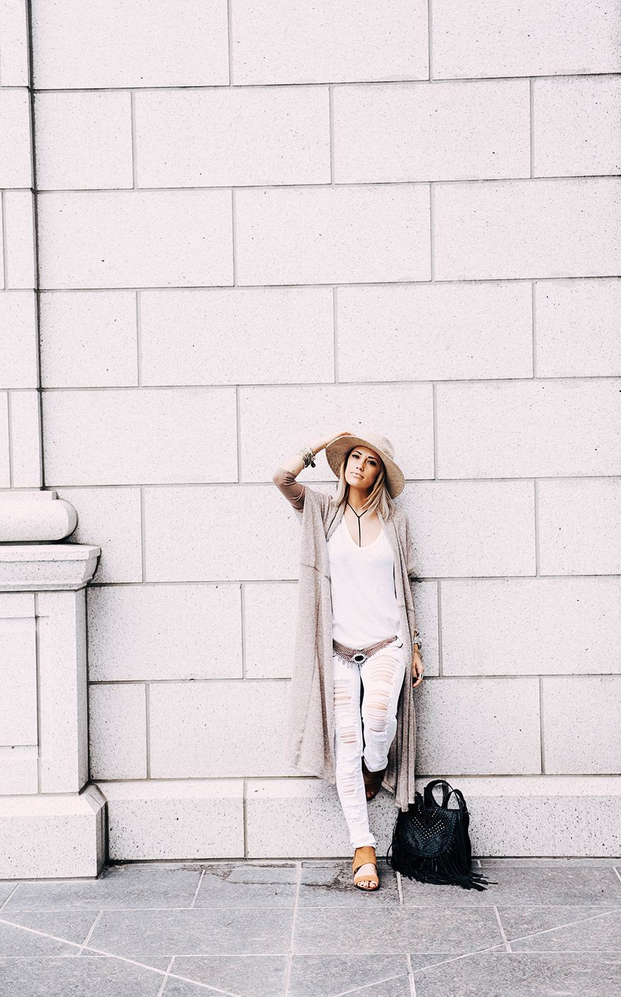 Stylish Outfits With Long Cardigan, Pattern M