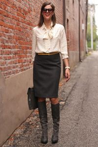 Cute Skirt And Boots Outfits Ideas For Spring