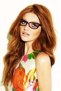 Own style of cintia dicker glasses, Human hair color