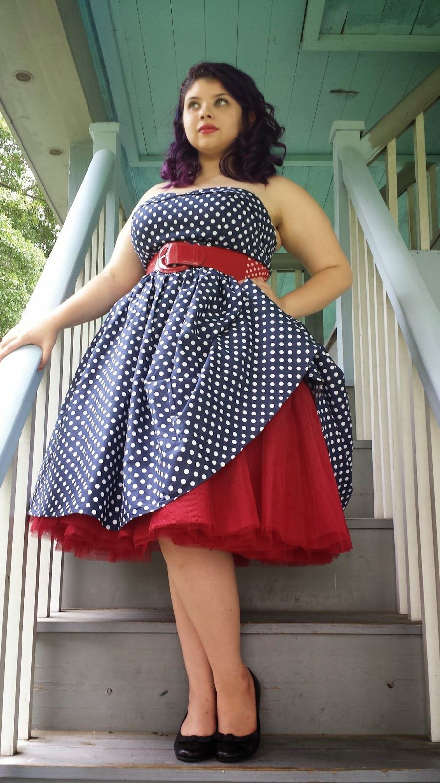 Plus size rockabilly dresses, Polka dot