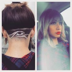 Professional tips on undercut designs eye, Eye of Horus