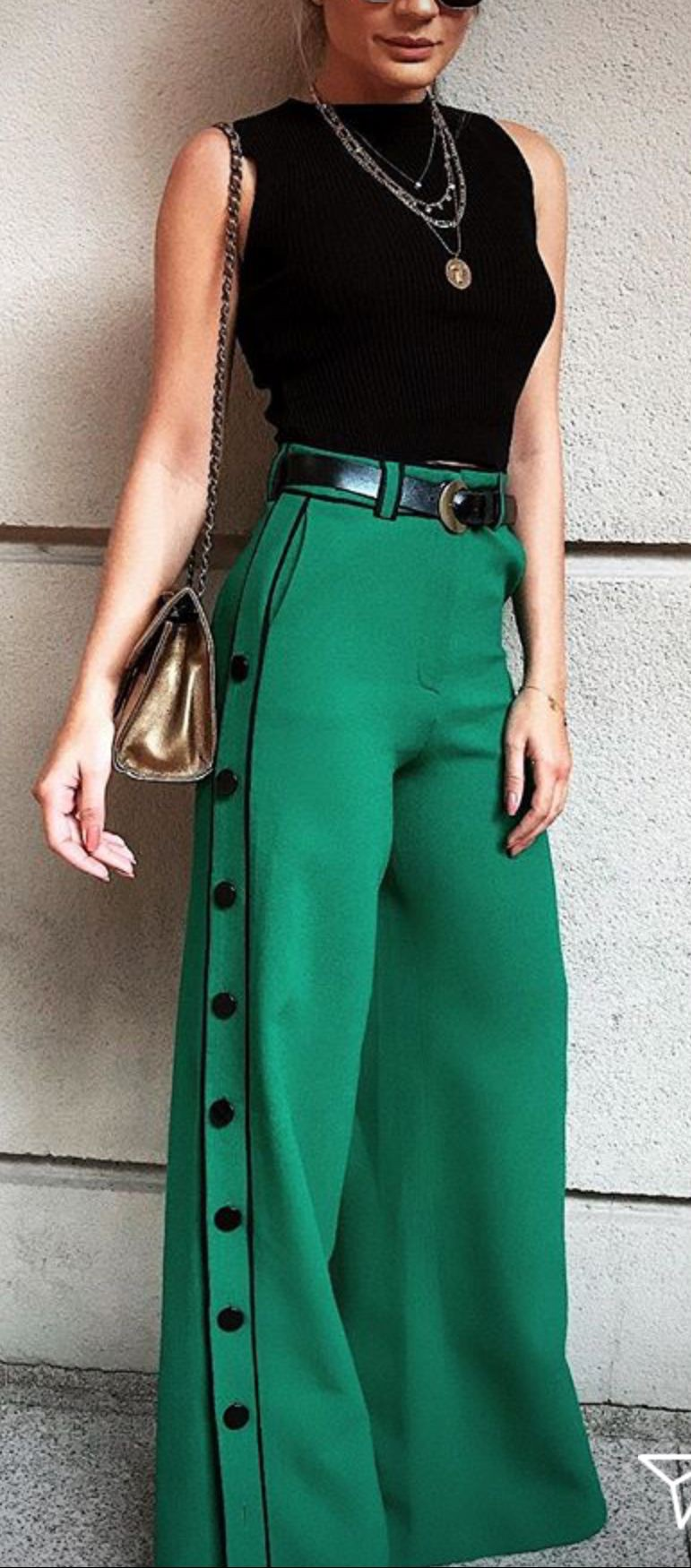 Stylish High Waist Palazzo Outfit For Brunch