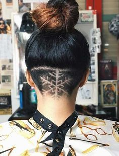 Check out these top 25 snowflake hair design, Hair tattoo