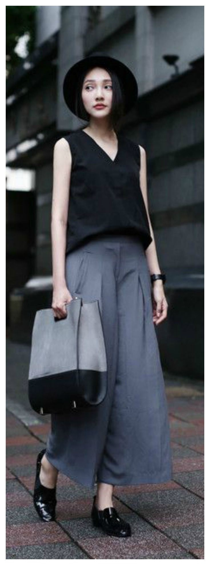 Lovely High Waist Palazzo Dress For Night Out Japan Street Style