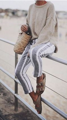 Chilly beach day outfit, Casual wear