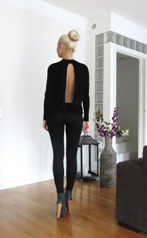 Cos Open Back Shirt Outfits, Little black dress, Fashion Love