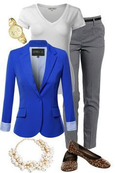 Blue Blazer Outfit Women