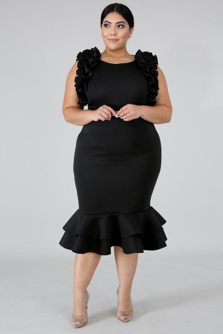 Pleats Body-Con Dress Stylish Cocktail Dress For Plus Size Ladies