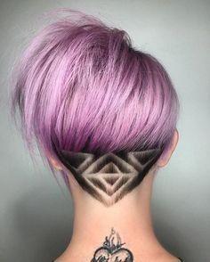 Girly and cute ideas for geometric undercut, Bob cut