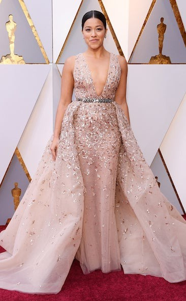 GINA RODRIGUEZ in Zuhair Murad at the 2018 Oscars, Red Carpet Best Dress