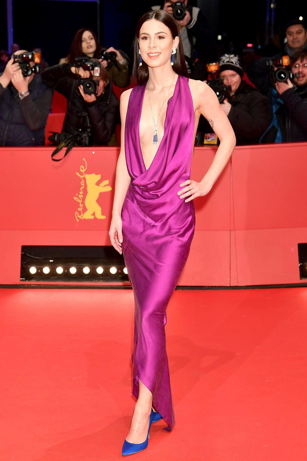 Lena Meyer-Landrut in Michael Sontag at 68. Berlinale, Red