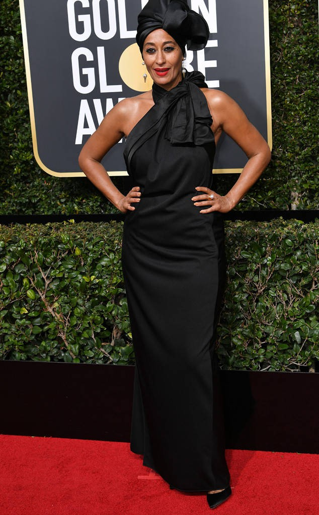 TRACEE ELLIS ROSS in Marc Jacobs at the 2018 Golden Globes, Red Carpet Event
