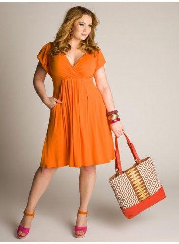 Casual plus size dress, Plus-size clothing