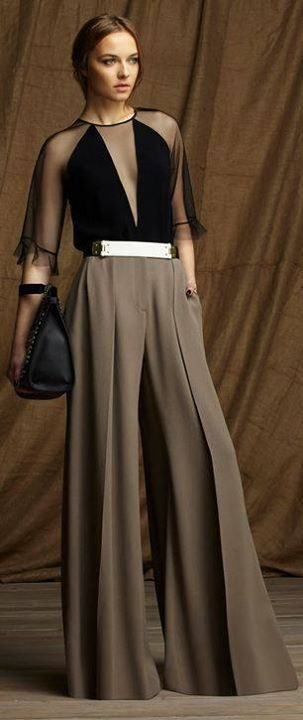 Wonderful High Waist Palazzo Outfit For Parties Imaginario da Mulher