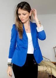 Terrific ideas for best blazer azul mulher, Electric blue