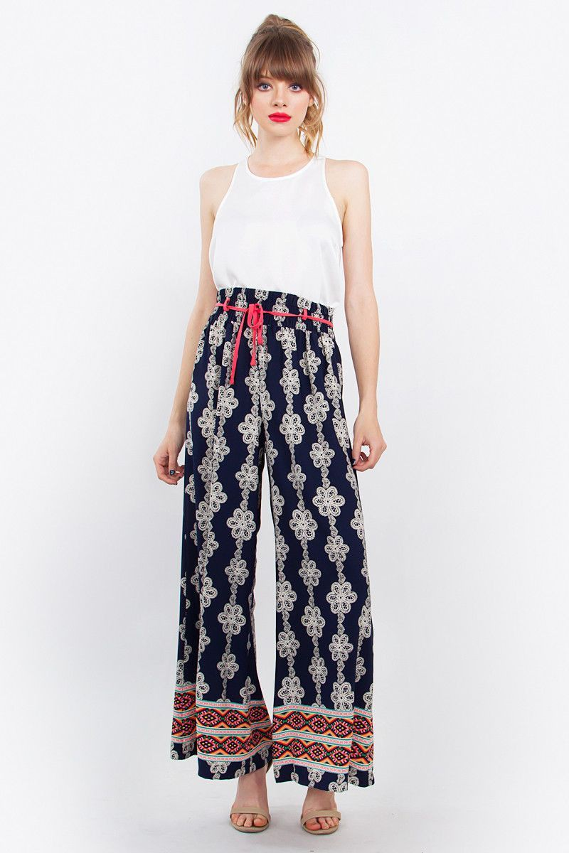 Cute High Waist Palazzo Pants For Girls TULUM PALAZZO PANTS