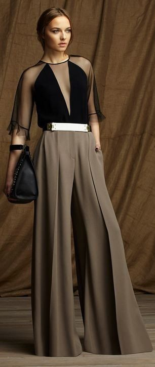 Latest Flare Palazzo Pants For Brunch I love the palazzo p…