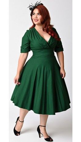 Gorgeous green swing dress, Delores Swing Dress
