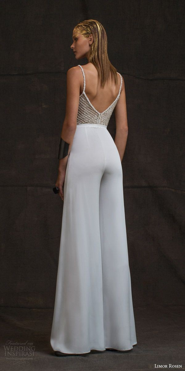 """Lovely Flare Palazzo Dress For Lunch Limor Rosen 2016 Wedding Dresses — """"Treasure"""" Bridal Collection"""